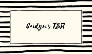 Caidyn's TBR